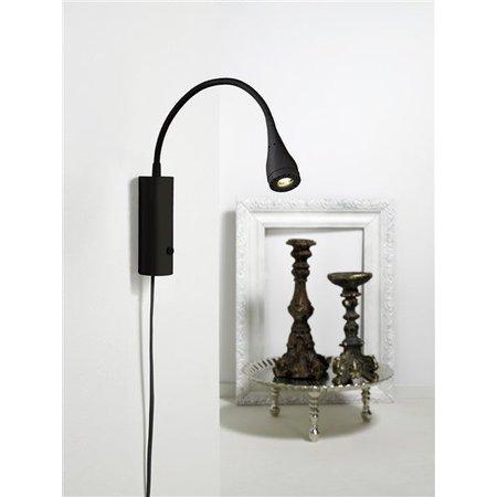 Wall light LED black, white, green, chrome 3W 220mm H