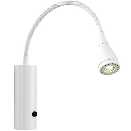 Wandlamp LED flexibel wit-zwart-groen-chroom 3W 220mm H