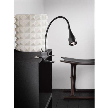 Desk lamp clamp LED black or white flexible 300 mm