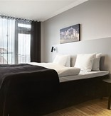 Wall light design white or black orientable GU10 270mm H