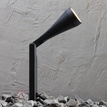 Spot de sol noir sur trépied GU10 IP44 190mm