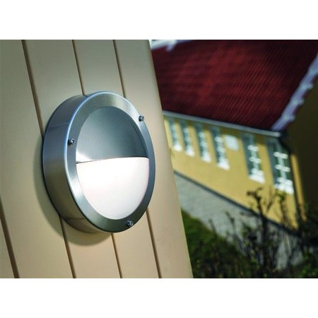 Outdoor wall light deck house galvanized, inox glass 200