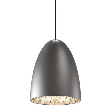 Luminaire suspendu noir-blanc-gris-acier brossé 200