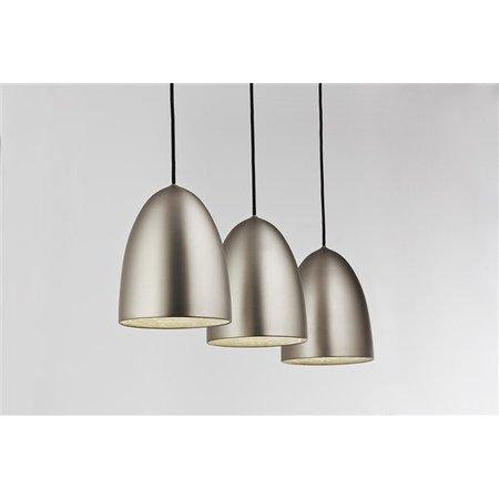 Hanglamp grijs conisch E27x3 1130mm breed