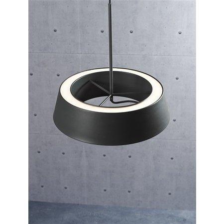 Luminaire suspendu LED blanc ou gris rond 14,5W 360mm Ø