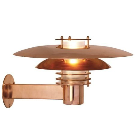 Outdoor wall light copper or grey E27 IP44 390mm Ø