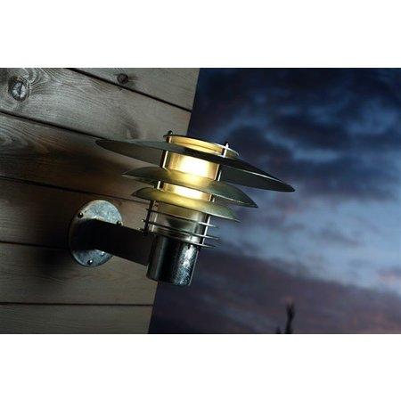 Wandlamp buiten industrieel koper-gegalvaniseerd E27 310