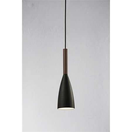 Pendant light design black, white or grey conic E27 355mm