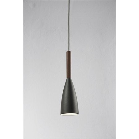 Luminaire suspendu design noir-blanc-gris conique E27 355