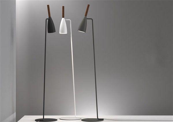 Staande lamp design zwart wit grijs richtbaar gu mm