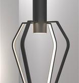 Hanglamp kooi LED zwart-wit GU10 dimbaar 6W 480mm hoog