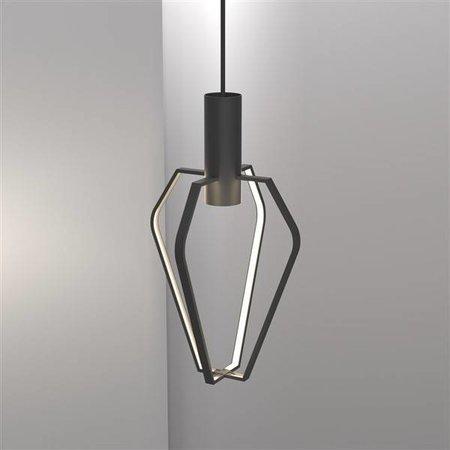 Luminaire suspendu LED cage noir-blanc GU10 dimmable 6W 480mm haut
