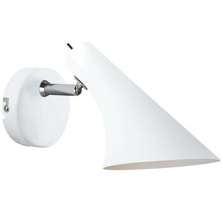 Wandlamp design zwart of wit E14 145mm diameter