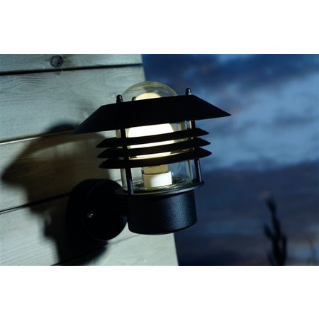 Outdoor wall light black-white-galvanized-inox IP54 220 Ø