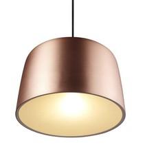 Luminaire suspendu cuivre-noir rond E27 310mm diamètre