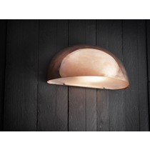 Outdoor wall light copper-black-white-galvanized sphere