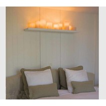 Wall light design bronze-nickel-chrome-white 5xcandle LED