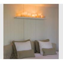 Wandlamp landelijke stijl LED brons-chroom-wit 5 kaarsen