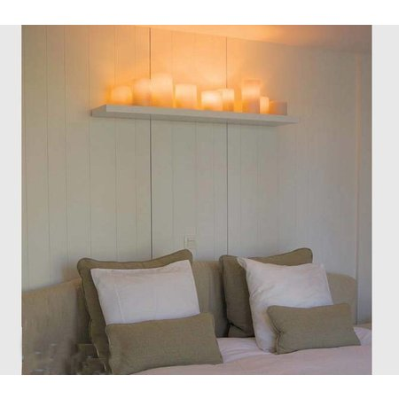 Applique country style LED bronze-chrome-blanc 5 bougies