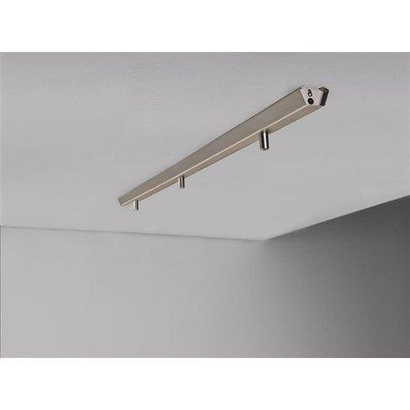 Rail voor 3x hanglamp 1130mm lang wit of grijs
