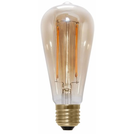 Kooldraadlamp LED lang dimbaar 6W goudkleurig