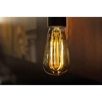 Lampe sphérique LED longue filament dimmable 6W dorée