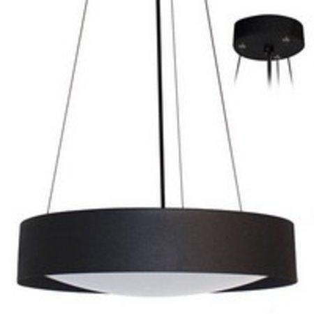 Luminaire suspendu noir ou blanc LED rond Ø 366mm 30W