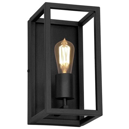 Wall light black or rust E27 300mm high