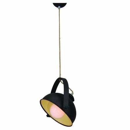 Hanglamp eetkamer roestbruin beige 350mm E27