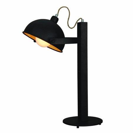 Lampe de table industrielle brun rouillé beige 620mm H E27