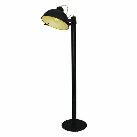 Lampadaire sur pied design brun rouillé beige 1800mm E27