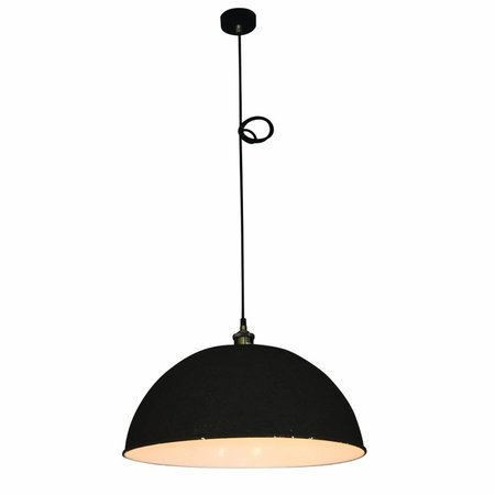 Hanglamp betonlook industrieel wit 600mm E27