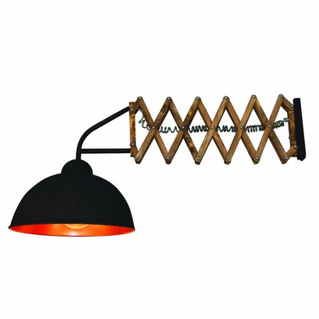 Wall light sconce accordion industrial 380mm E27