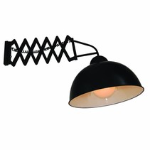 Wall light industrial with arm 380mm E27