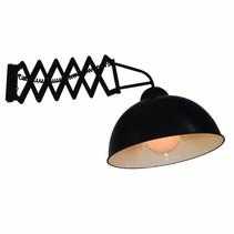 Wandlamp met arm industrieel zwart 380mm E27