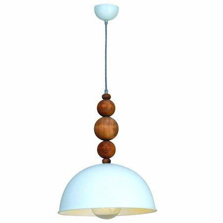 Hanglamp bollen boven eettafel wit 380mm E27