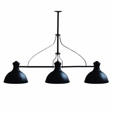 Hanglamp woonkamer industrieel zwart 1200mm E27x3