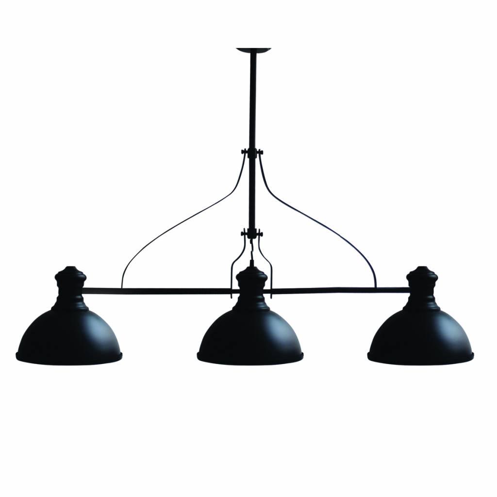 Hanglamp Woonkamer Industrieel Zwart 1200mm E27x3 Myplanetled