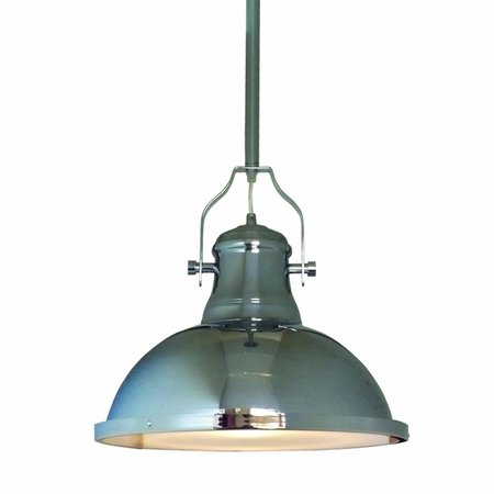 Luminaire suspendu vintage chrome 380mm diamètre E27