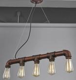 Pendant light vintage rust colour 670mm E27x5