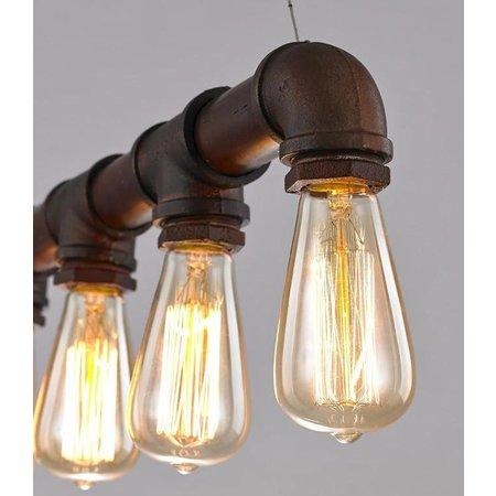 Luminaire suspendu vintage rouille 670mm E27x5
