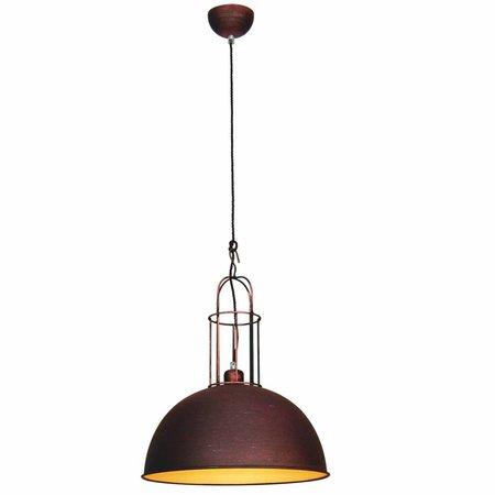 Hanglamp boven eettafel vintage koper, bruin, grijs 380mm