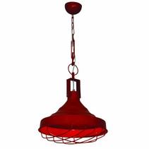 Luminaire suspendu vintage rouge avec chaîne 380mm Ø E27
