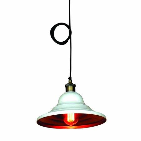 Luminaire suspendu noir ou blanc vintage 300mm Ø E27