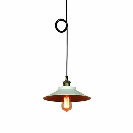 Hanglamp industrieel wit of zwart rond 300mm Ø E27