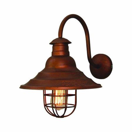 Wall light sconce copper vintage arc 300mm Ø E27