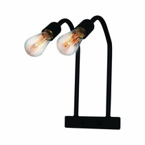 Wall light sconce industrial black 400mm high E27x2
