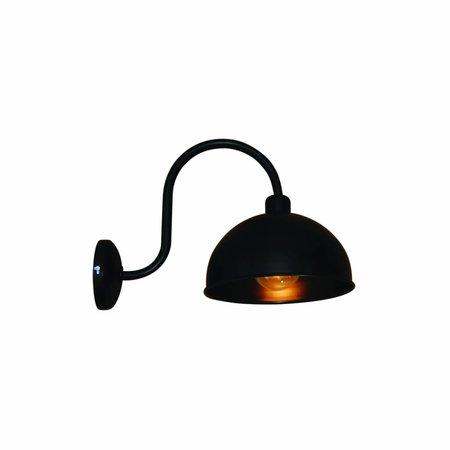 Wandlamp met arm vintage zwart 240mm diameter E27