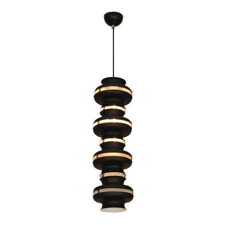 Hanglamp pendel met ringen zwart wit 650mm H