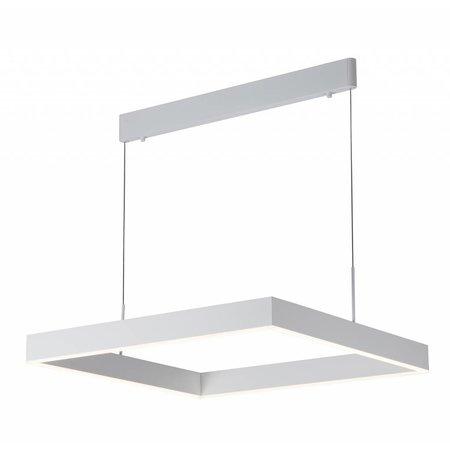Luminaire suspendu noir LED carré brun, noir, blanc 31W
